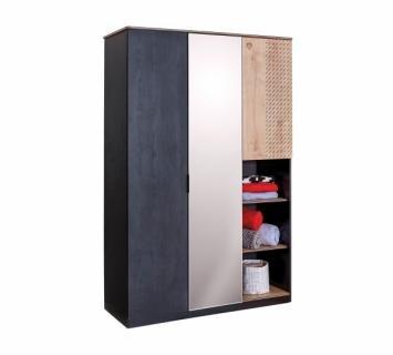 Шкаф трехдверный Black 1002