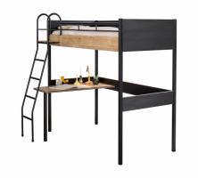 Кровать-чердак со столом Black 1402 Compact