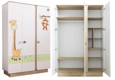 Шкаф трехдверный Safari Natura 1002