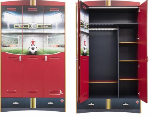 Шкаф трехдверный Football 1002.01
