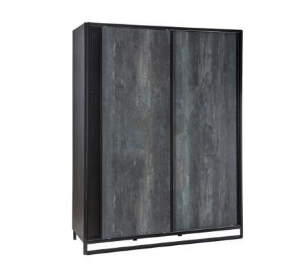 Шкаф большой, со сдвижными дверями Dark Metal 1003