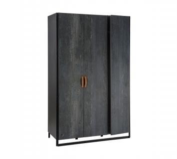 Шкаф трехдверный Dark Metal 1002