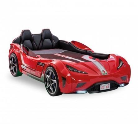 Кровать-машина GTS красная Carbed 1350