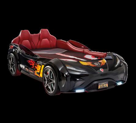 Кровать-машина GTS черная Carbed 1352