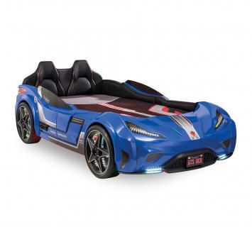 Кровать-машина GTS синяя Carbed 1353