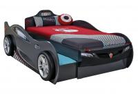 Кровать-машина Coupe c выдвижной кроватью черная (90х190/90х180) Carbed 1313