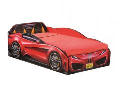 Кровать-машина Spyder красная Carbed 1304