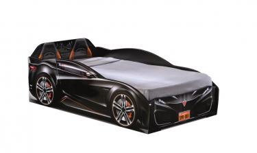 Кровать-машина Spyder черная Carbed 1306