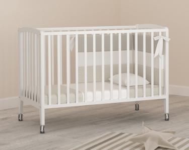 Детская кроватка на колесиках Angela Bella Бьянка (белый)