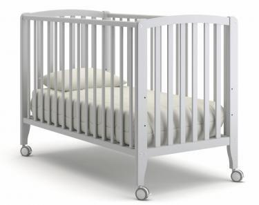 Детская кроватка на колесиках Angela Bella Бьянка (белая ночь)
