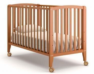Детская кроватка на колесиках Angela Bella Бьянка (вишня)