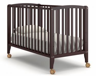 Детская кроватка на колесиках Angela Bella Бьянка (махагон)
