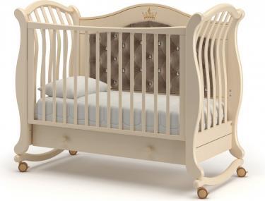Детская кроватка на колесах Габриэлла Люкс Плюс (слоновая кость)