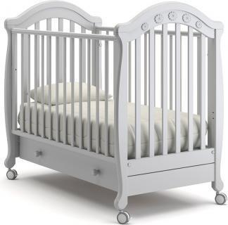 Детская кроватка на колесах Джозеппе (белая ночь)