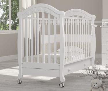 Детская кроватка на колесах Джозеппе (белый)