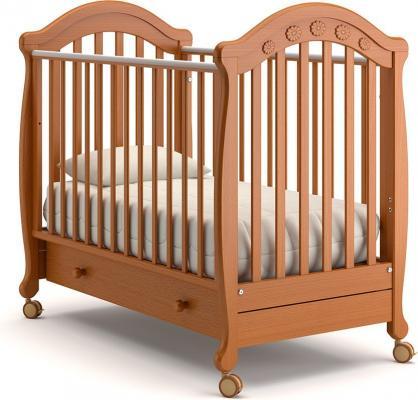 Детская кроватка на колесах Джозеппе (вишня)