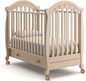 Детская кроватка на колесах Джозеппе (выбеленный бук)