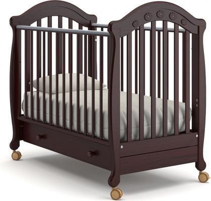 Детская кроватка на колесах Джозеппе (махагон)