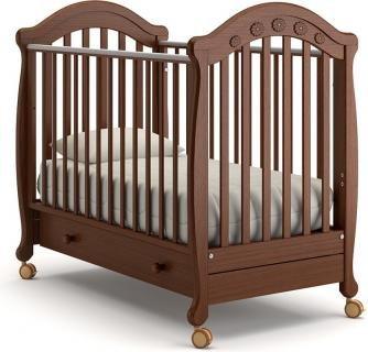 Детская кроватка на колесах Джозеппе (орех)