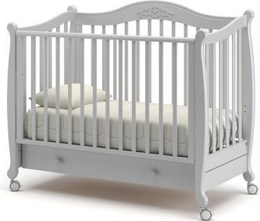 Детская кроватка на колесах Моника (белая ночь)