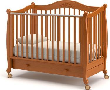 Детская кроватка на колесах Моника (вишня)