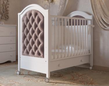 Детская кроватка на колесах Софи Люкс (белый)