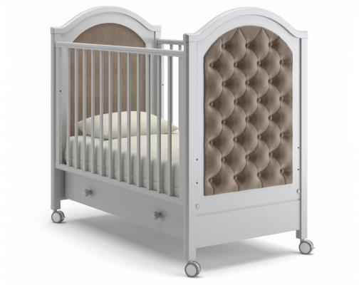 Детская кроватка на колесах Софи Люкс (белая ночь)