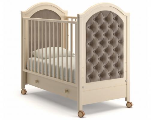 Детская кроватка на колесах Софи Люкс (слоновая кость)