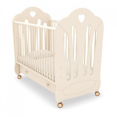 Детская кроватка на колесах Стефани (слоновая кость)