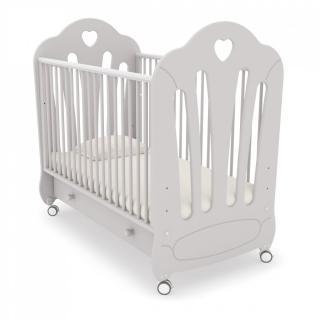 Детская кроватка на колесах Стефани (белая ночь)