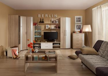 Гостиная BERLIN (Дуб Сонома/Белый Глянец)