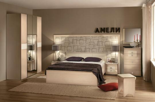 Спальня Амели (Дуб Отбеленый)