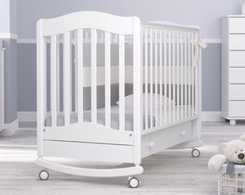 Детская кроватка-качалка Ванечка (белый)