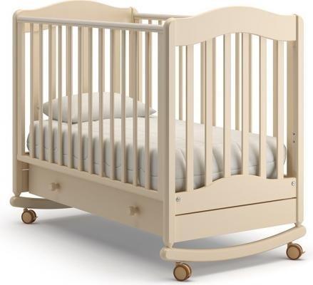 Детская кроватка-качалка Ванечка (слоновая кость)