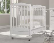 Детская кроватка-качалка Симоник (белый)
