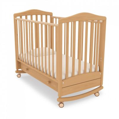 Детская кроватка-качалка Симоник (натуральный)