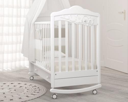 Детская кроватка-качалка Angela Bella Изабель (белый)