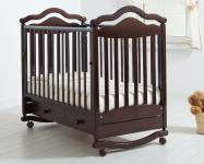 Детская кроватка-качалка Анжелика (махагон)