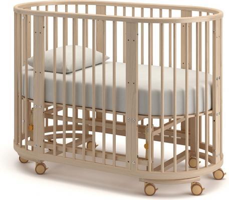 Детская кровать-трансформер Бэтти (выбеленный бук)