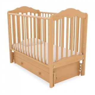Детская кроватка с универсальным маятником Анастасия (натуральный)