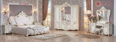 Спальня Беатрис (крем) с 4-х дверным шкафом