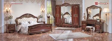 Спальня Даниэлла (темный орех) с 5-ти дверным шкафом