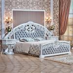 Спальня Марелла (белый/серебро/велюр) с 6-ти дверным шкафом