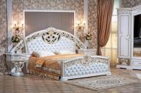 Спальня Марелла (белый/золото/кожзам) с 6-ти дверным шкафом