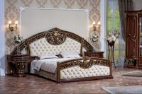 Спальня Марелла (темный орех/золото/велюр) с 6-ти дверным шкафом