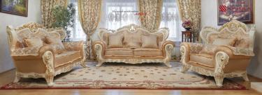 Комплект мягкой мебели Лорд (крем/золото/неаполь голд)