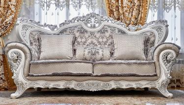 Комплект мягкой мебели Лорд (белый валей сильвер)
