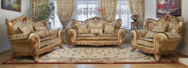 Комплект мягкой мебели Лорд (золото табло беж)