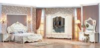 Спальня Элиза Люкс (крем) с 5-ти дверным шкафом