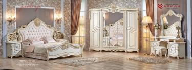Спальня Джоконда Люкс (крем) с 5-ти створчатым шкафом